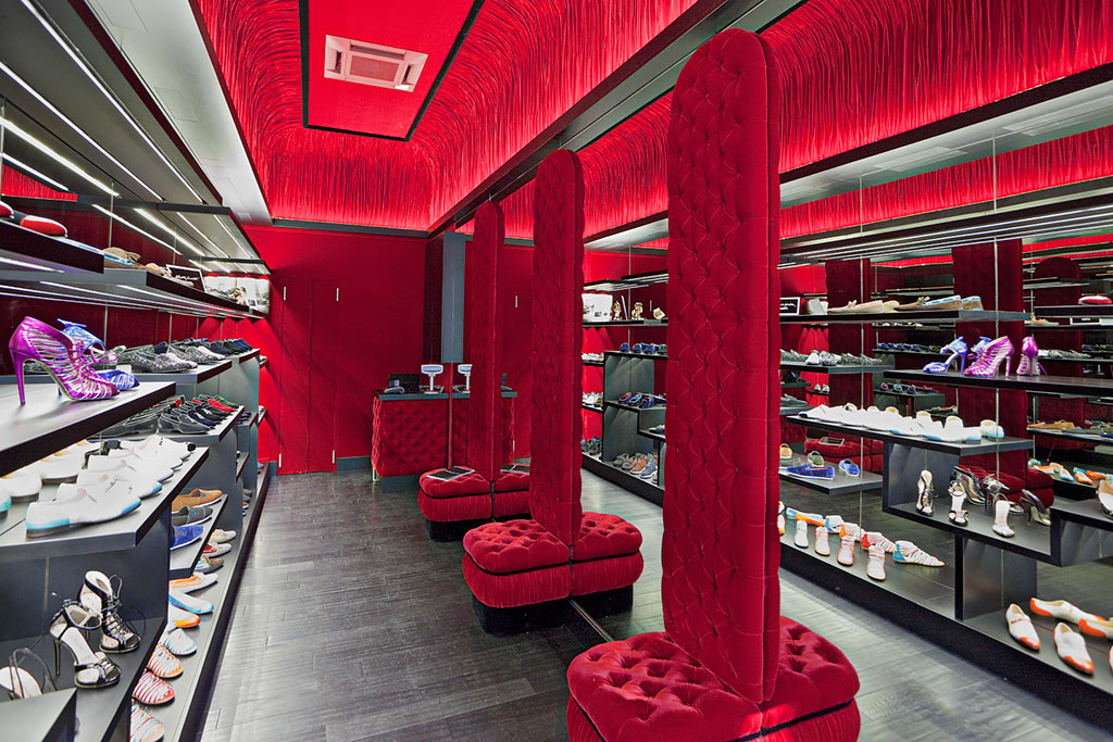 High fashion show room