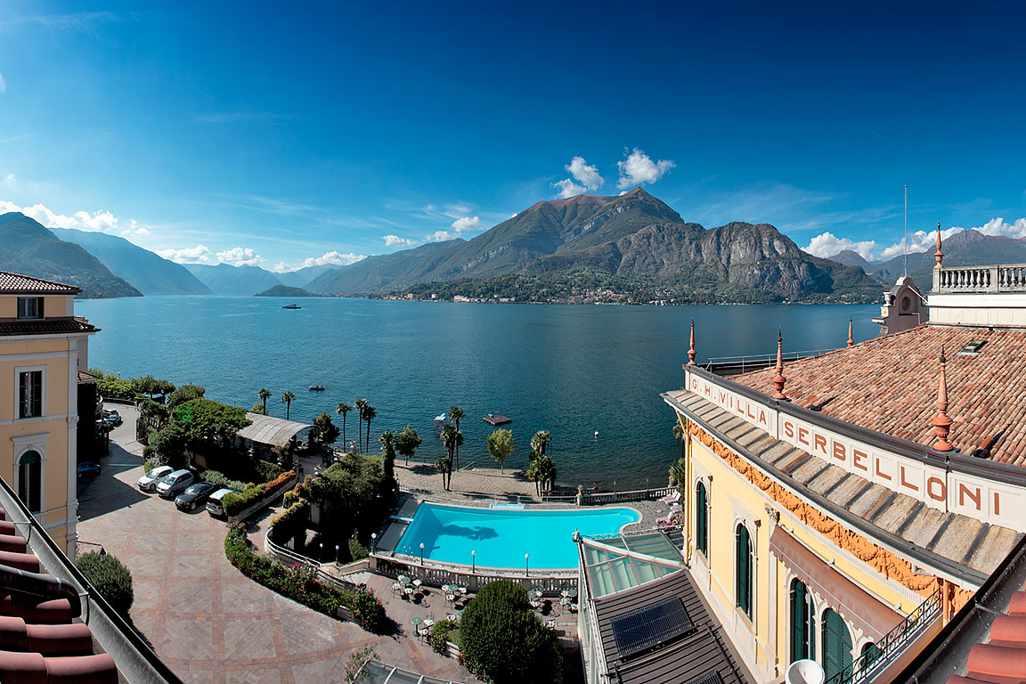 Grand Hotel Villa Serbelloni, panoramic view from the terrace