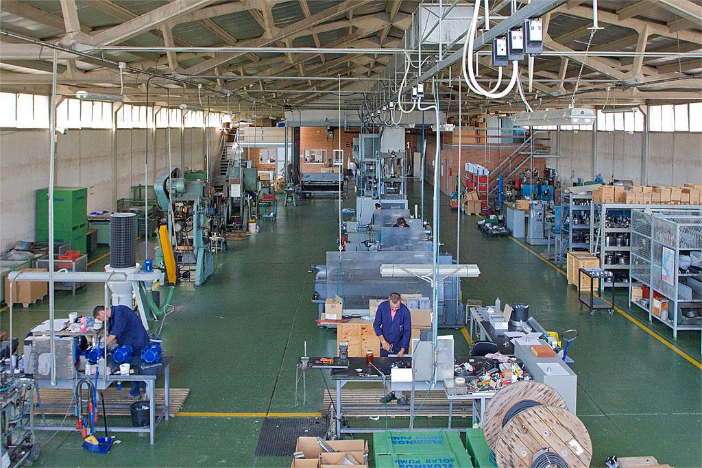 Manufacturing company, interior
