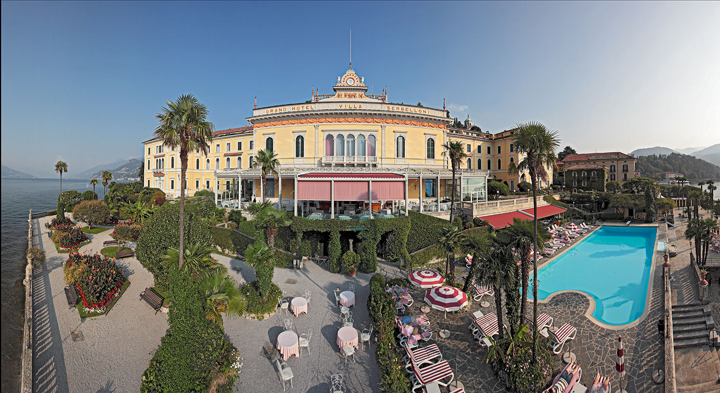 Aerial panoramic view, Grand Hotel Villa Serbelloni