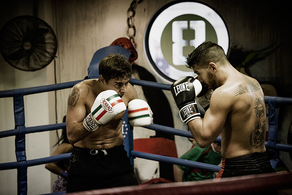 Sparring session in Sydney, Australia